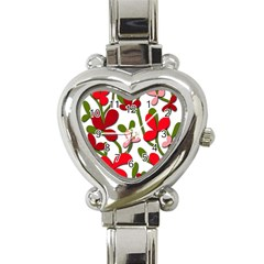 Floral tree Heart Italian Charm Watch