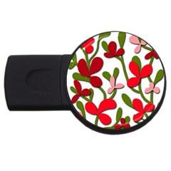 Floral tree USB Flash Drive Round (4 GB)