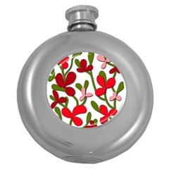 Floral tree Round Hip Flask (5 oz)