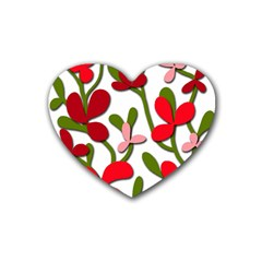 Floral tree Heart Coaster (4 pack)