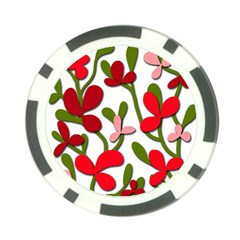 Floral tree Poker Chip Card Guards
