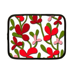 Floral tree Netbook Case (Small)
