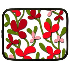 Floral tree Netbook Case (XL)