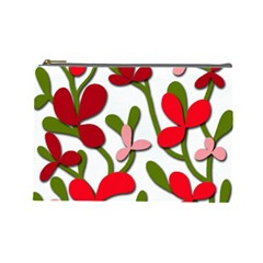 Floral tree Cosmetic Bag (Large)