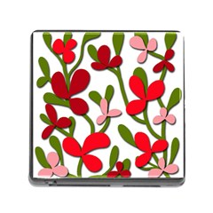 Floral tree Memory Card Reader (Square)