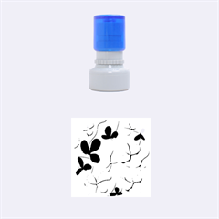 Floral tree Rubber Round Stamps (Small)