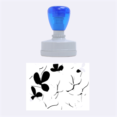 Floral tree Rubber Oval Stamps
