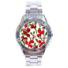 Floral tree Stainless Steel Analogue Watch