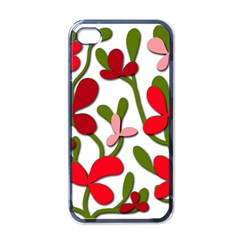 Floral tree Apple iPhone 4 Case (Black)