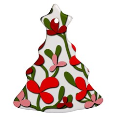 Floral tree Christmas Tree Ornament (2 Sides)