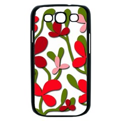 Floral tree Samsung Galaxy S III Case (Black)