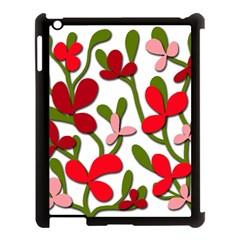 Floral tree Apple iPad 3/4 Case (Black)