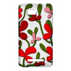 Floral tree HTC One SU T528W Hardshell Case