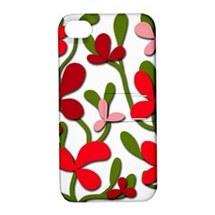 Floral tree Apple iPhone 4/4S Hardshell Case with Stand
