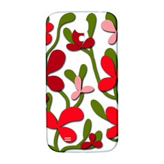 Floral tree Samsung Galaxy S4 I9500/I9505  Hardshell Back Case