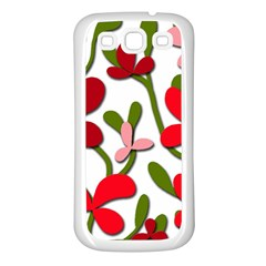 Floral tree Samsung Galaxy S3 Back Case (White)