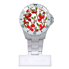 Floral tree Plastic Nurses Watch