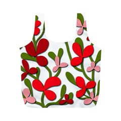 Floral tree Full Print Recycle Bags (M)