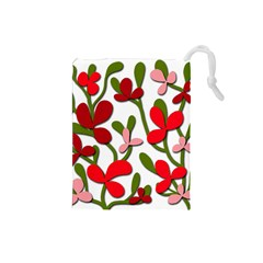 Floral tree Drawstring Pouches (Small)