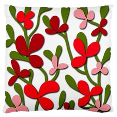 Floral tree Large Flano Cushion Case (Two Sides)