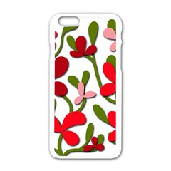 Floral tree Apple iPhone 6/6S White Enamel Case