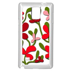 Floral tree Samsung Galaxy Note 4 Case (White)