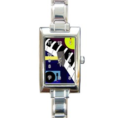 Hard Rectangle Italian Charm Watch