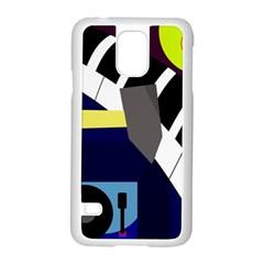 Hard Samsung Galaxy S5 Case (White)