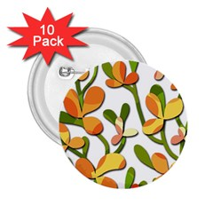 Decorative floral tree 2.25  Buttons (10 pack)