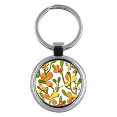 Decorative floral tree Key Chains (Round)