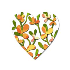 Decorative floral tree Heart Magnet