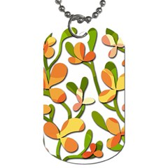 Decorative floral tree Dog Tag (One Side)
