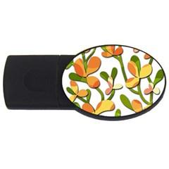 Decorative floral tree USB Flash Drive Oval (1 GB)