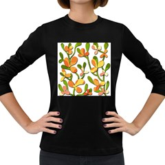 Decorative floral tree Women s Long Sleeve Dark T-Shirts