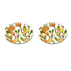 Decorative floral tree Cufflinks (Oval)