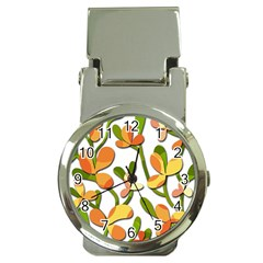 Decorative Floral Tree Money Clip Watches