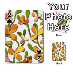 Decorative floral tree Playing Cards 54 Designs