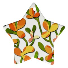 Decorative floral tree Star Ornament (Two Sides)