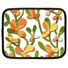 Decorative floral tree Netbook Case (Large)