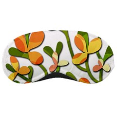 Decorative floral tree Sleeping Masks