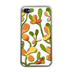 Decorative floral tree Apple iPhone 4 Case (Clear)