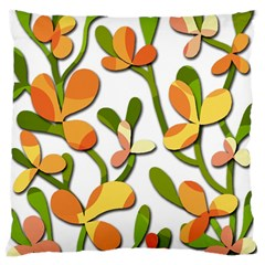 Decorative floral tree Large Cushion Case (One Side)
