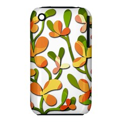Decorative floral tree Apple iPhone 3G/3GS Hardshell Case (PC+Silicone)