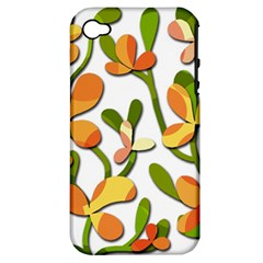 Decorative floral tree Apple iPhone 4/4S Hardshell Case (PC+Silicone)