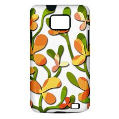 Decorative floral tree Samsung Galaxy S II i9100 Hardshell Case (PC+Silicone)