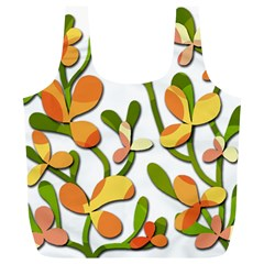 Decorative floral tree Full Print Recycle Bags (L)