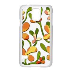 Decorative floral tree Samsung Galaxy S5 Case (White)