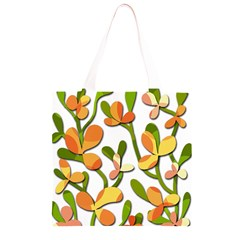 Decorative floral tree Grocery Light Tote Bag