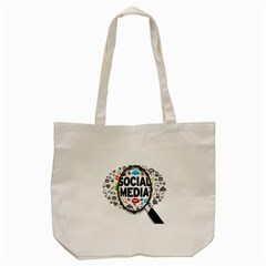 Social Media Computer Internet Typography Text Poster Tote Bag (Cream)