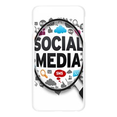 Social Media Computer Internet Typography Text Poster Apple Seamless iPhone 6 Plus/6S Plus Case (Transparent)